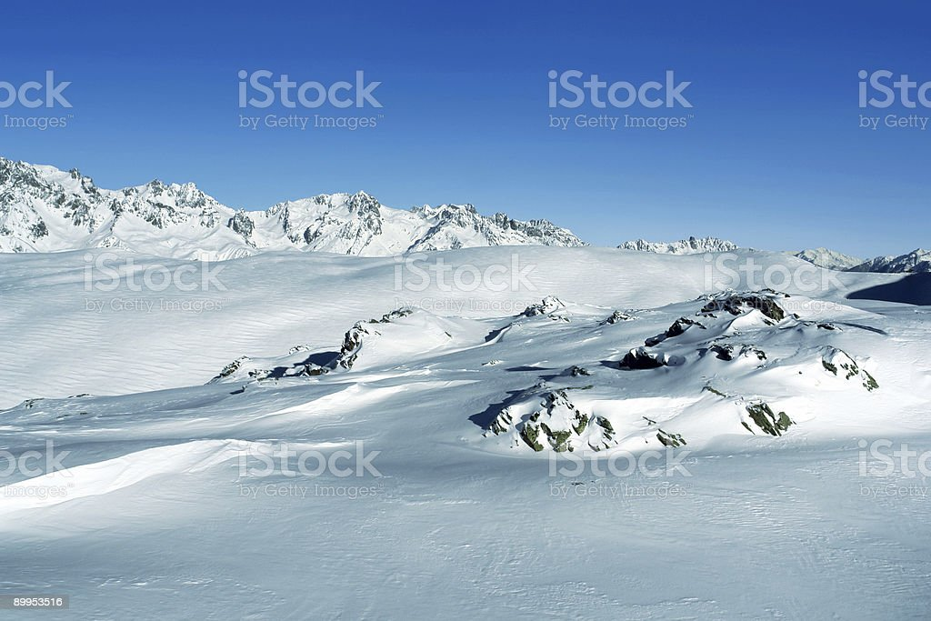 Snowcovered Alps 03 royalty-free stock photo