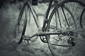 snow-covered bike