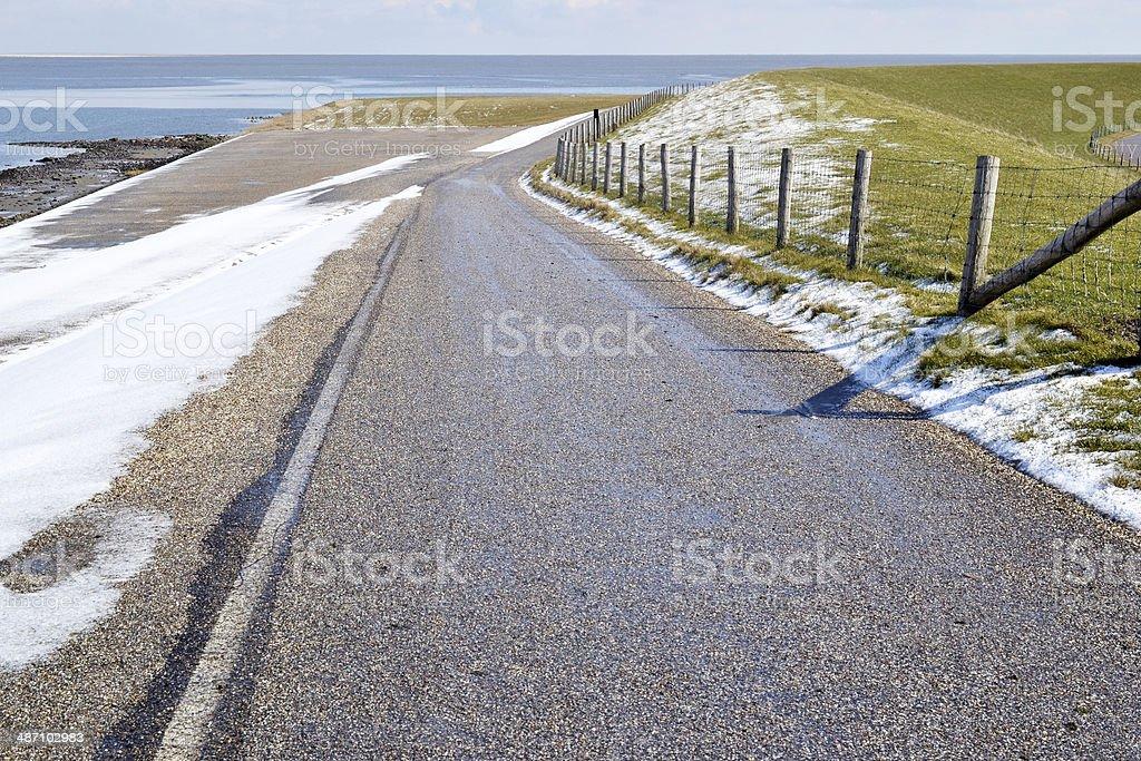 雪に覆われた風景の北 Texel ます。 ロイヤリティフリーストックフォト