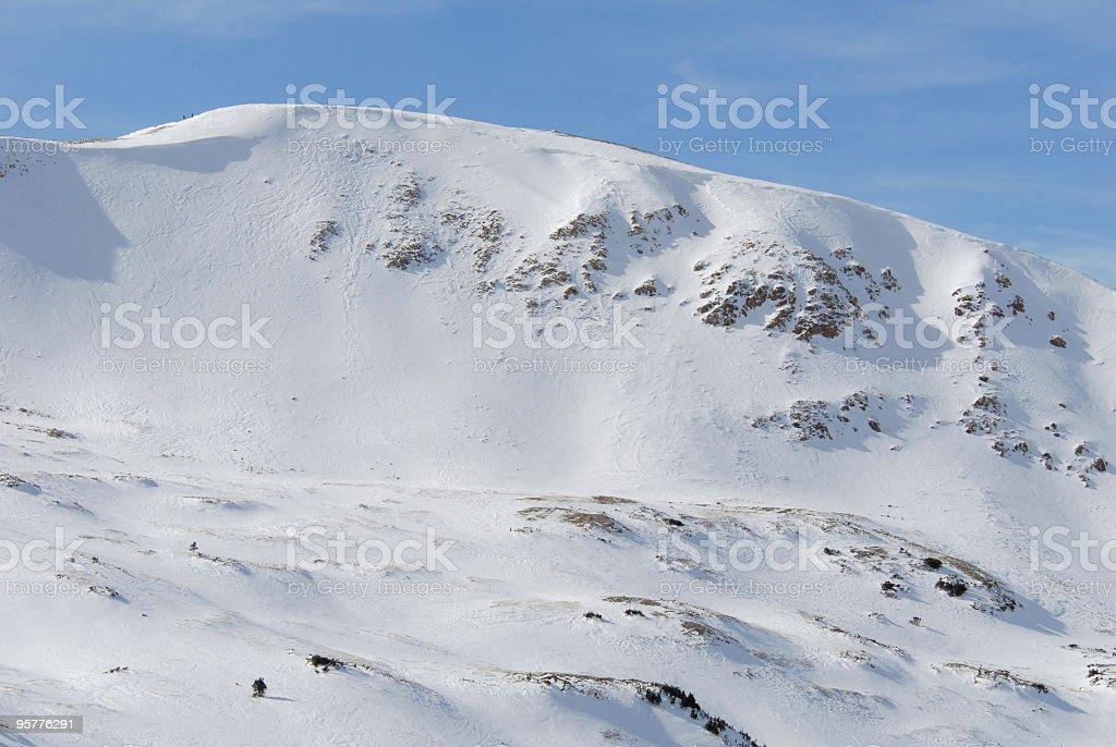 Snow-covered Mountain Peak royalty-free stock photo