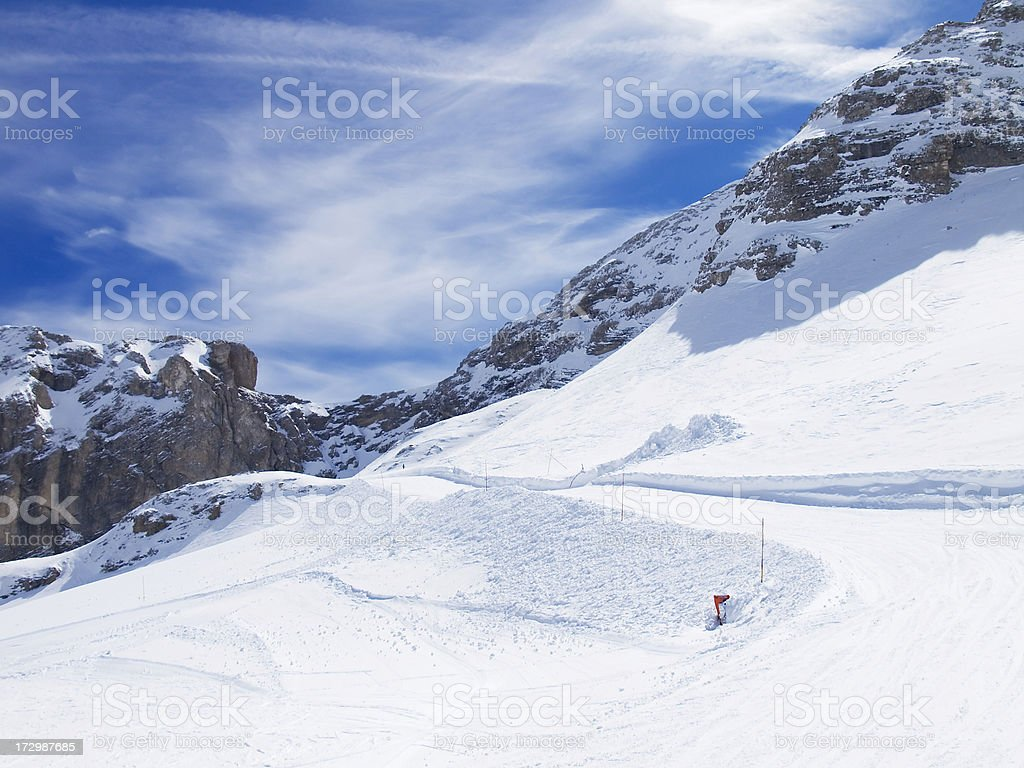 Snowcovered mountain royalty-free stock photo