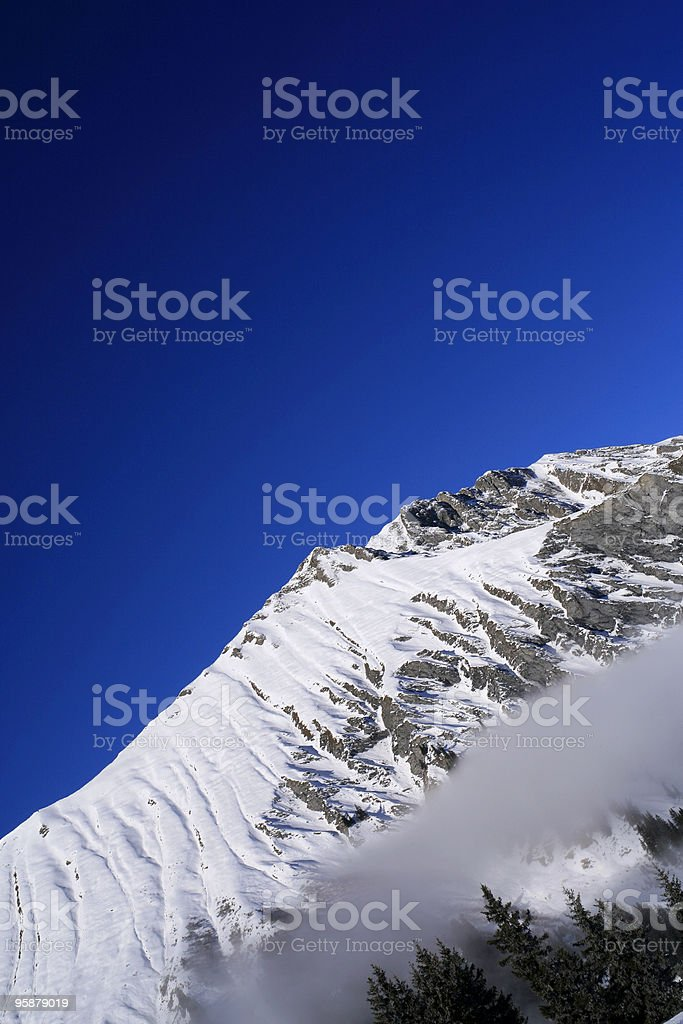 snow-covered mountain stock photo