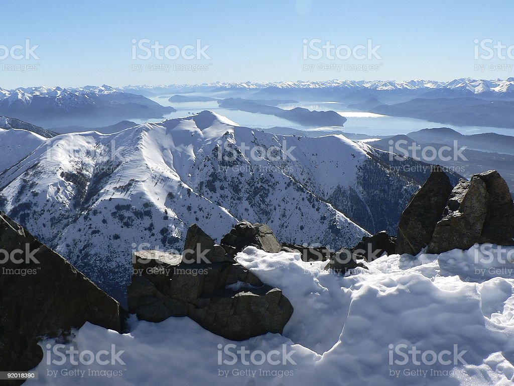 Snowcovered Mountains, Argentina stock photo