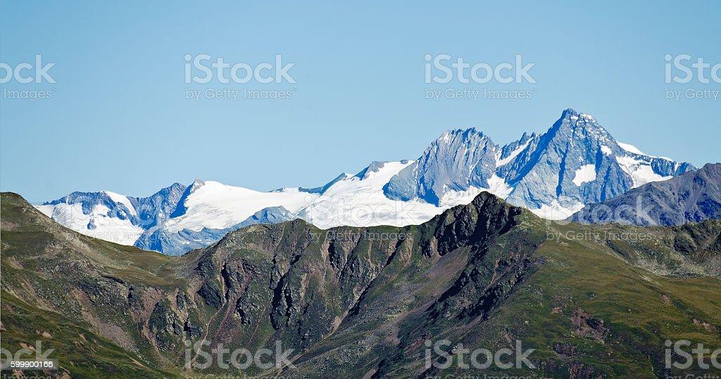 snowcovered peaks of the Glockner group stock photo