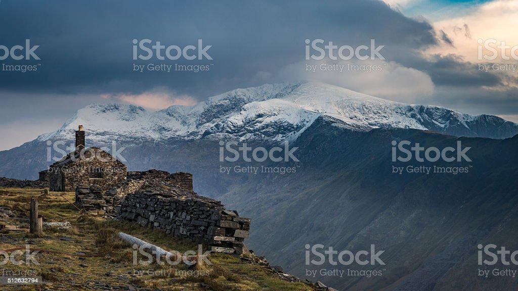 Snowdon from Dinorwig stock photo