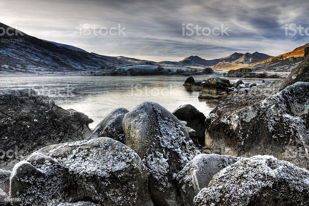 Snowdon on a winters day royalty-free stock photo