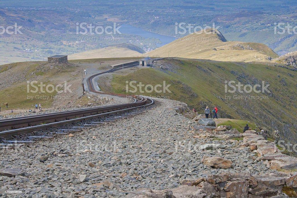 Snowdon Rack Railway stock photo