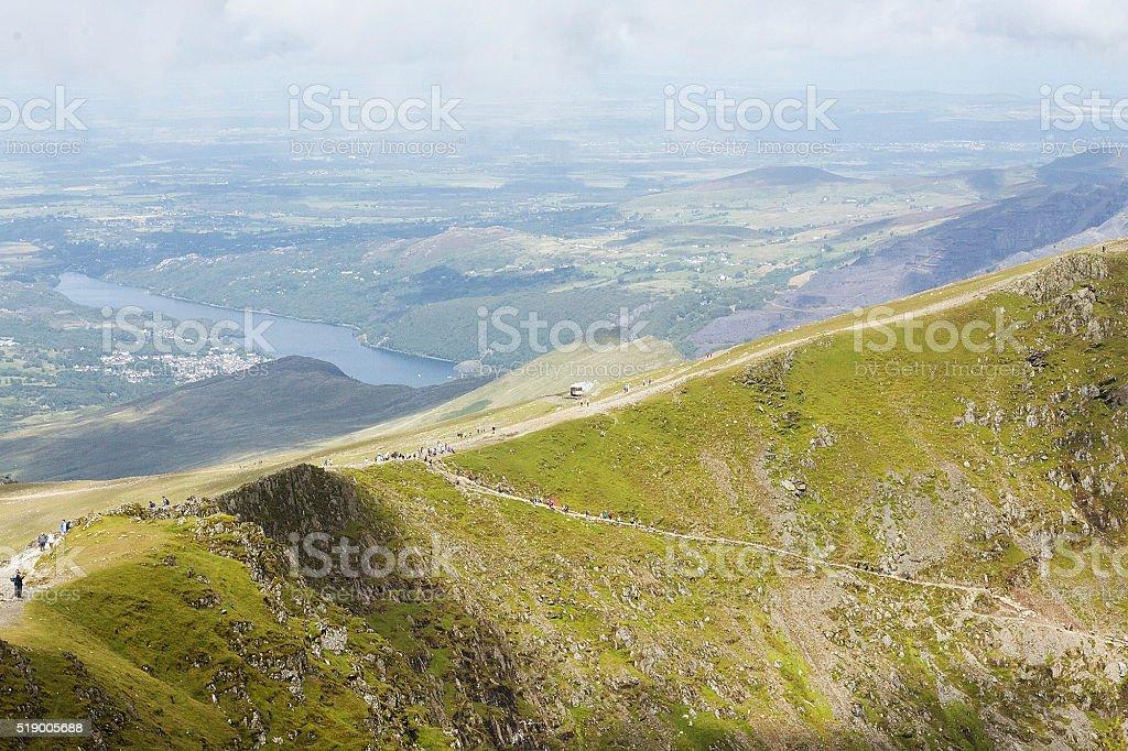 Snowdonia piede percorso foto stock royalty-free