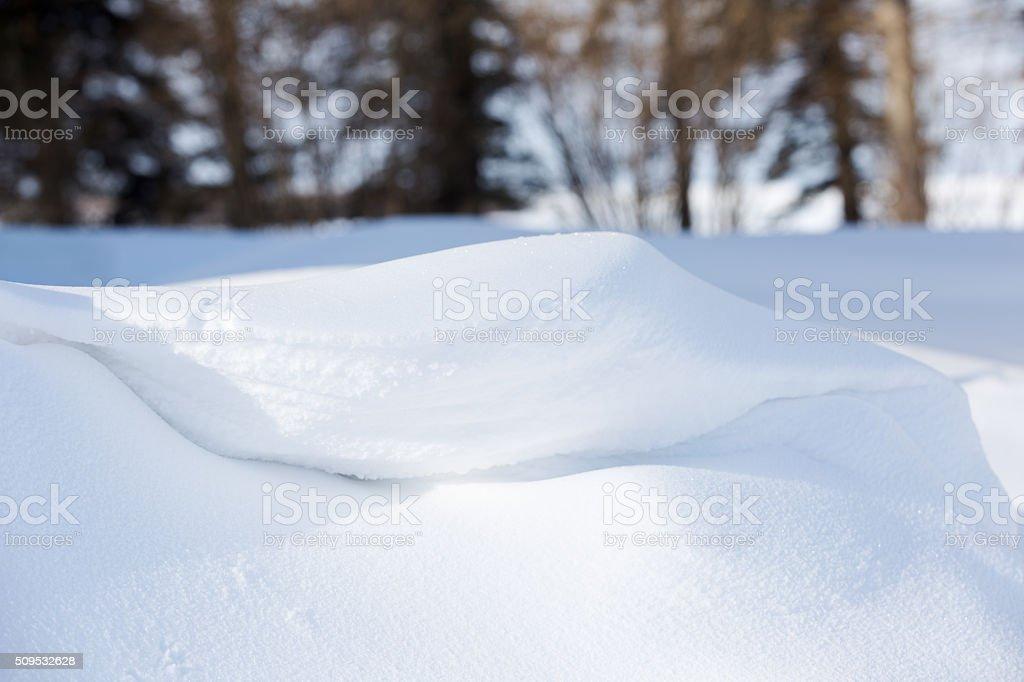 Snowdrift After a Blizzard stock photo