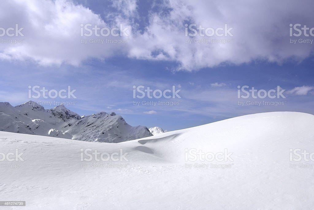 Snowdrift stock photo