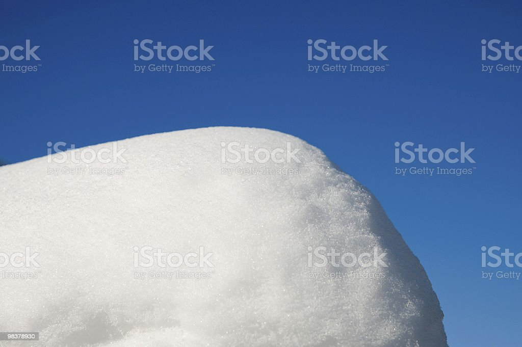 snowdrift royalty-free stock photo