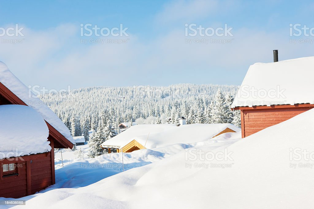 Snowed in stock photo