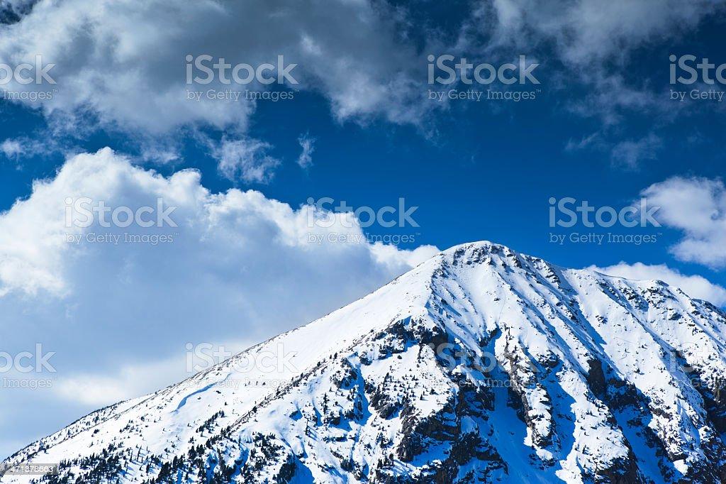 Snowed peak royalty-free stock photo