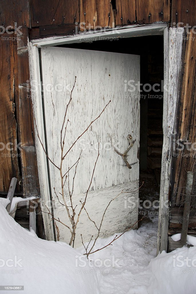 Snowed-In Entrance to a Building royalty-free stock photo