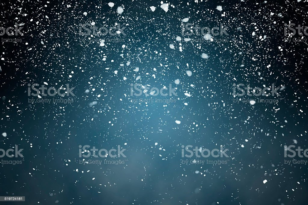 Snowfall with Blue Background vector art illustration