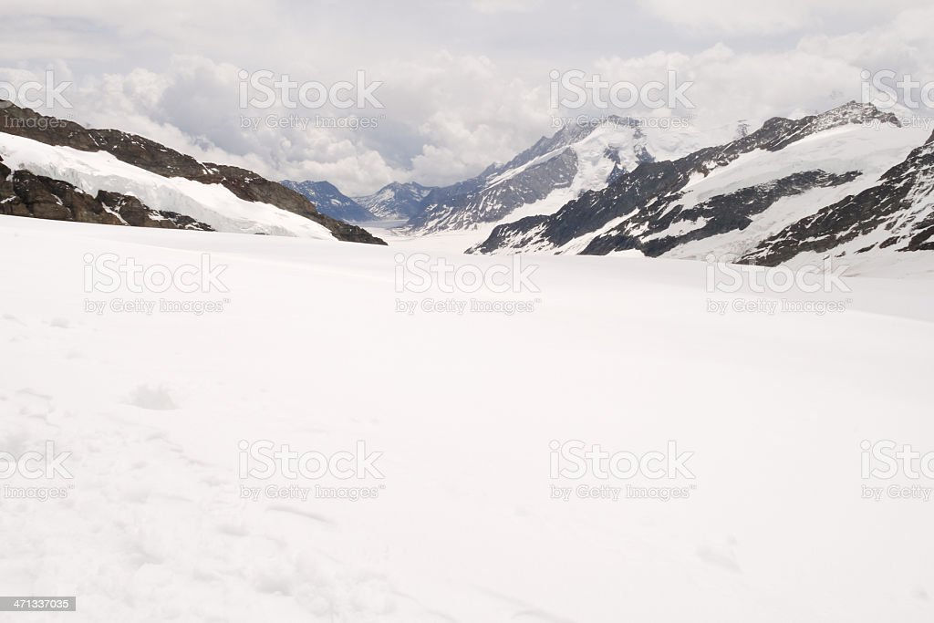 Snowfield at the Jungfraujoch royalty-free stock photo