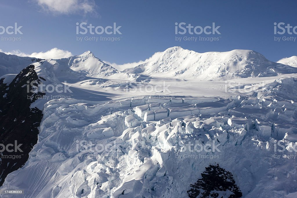 Snowfield in the Mountains royalty-free stock photo