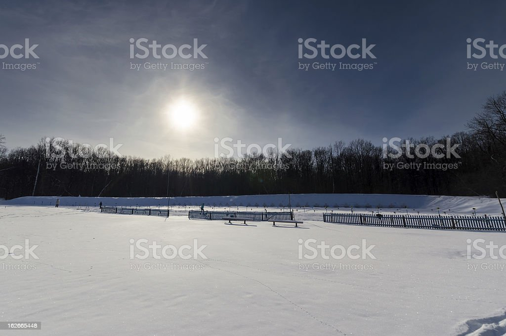 Snowfield stock photo
