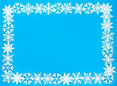 Snowflake Border and Background Frame