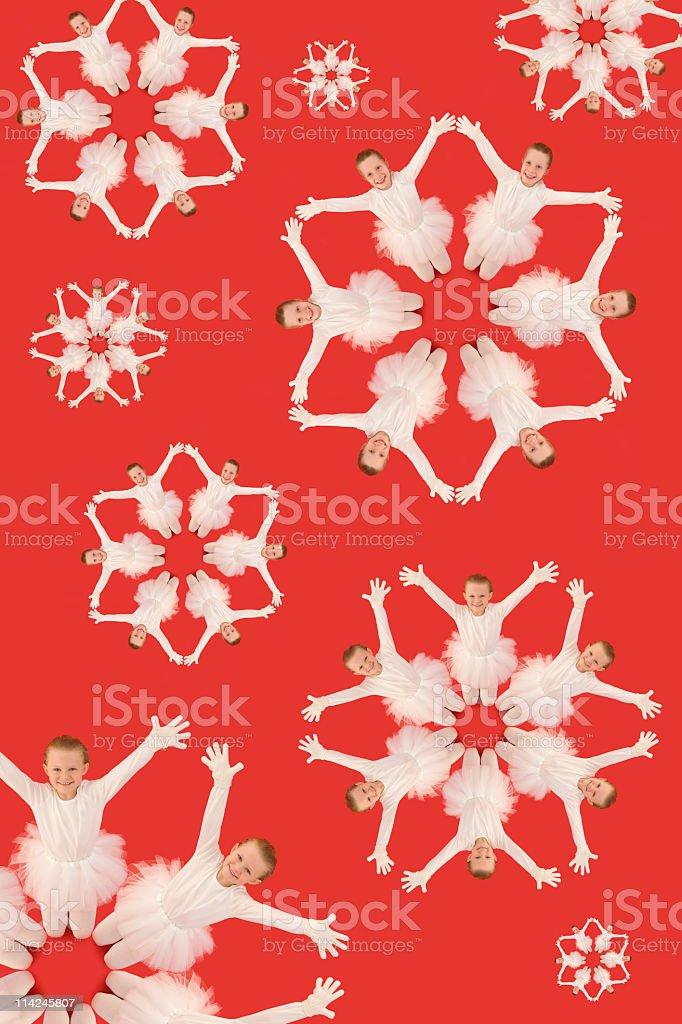 Snowflake children royalty-free stock photo