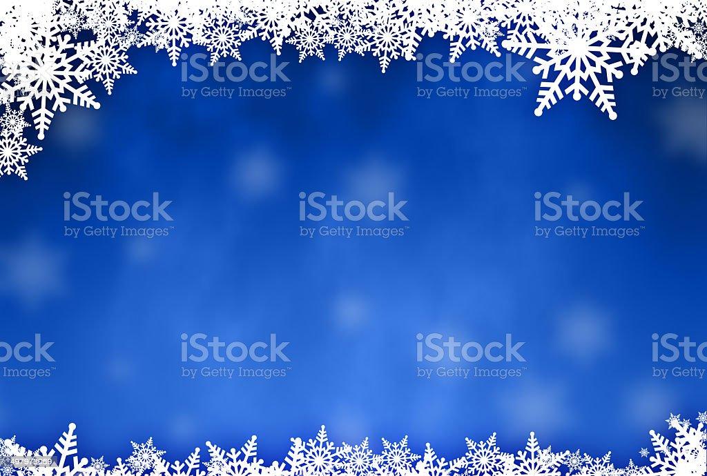 Snowflake Christmas background with grungey flakes stock photo