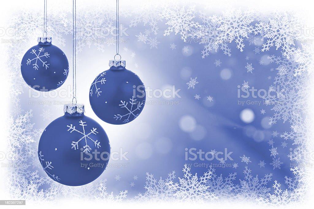 Snowflake Christmas Balls stock photo