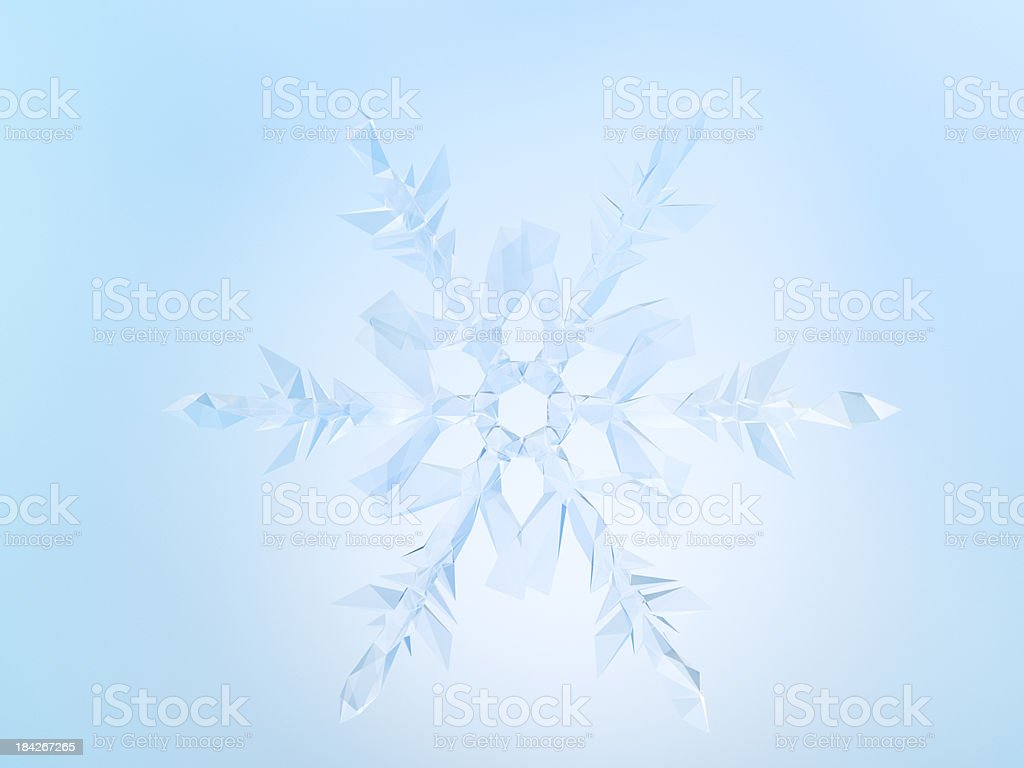 Snowflake Concept background royalty-free stock photo