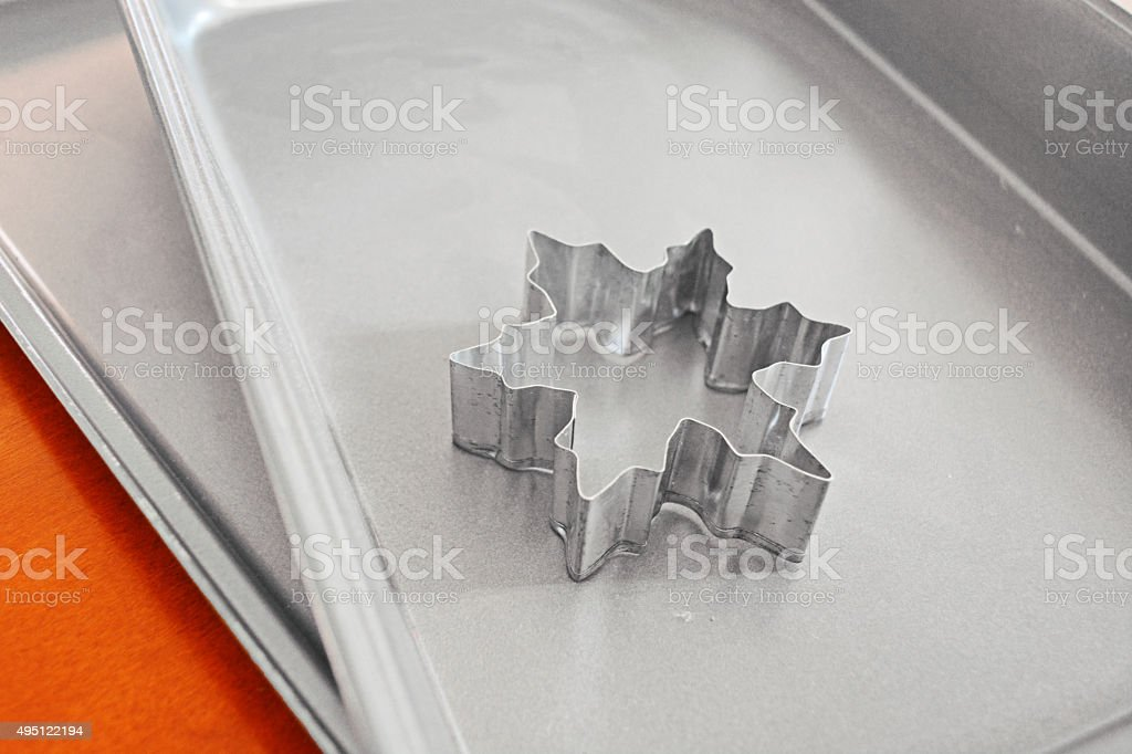 Snowflake Cookie Cutter stock photo