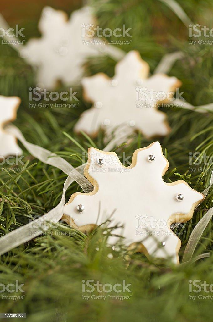 Snowflake cookies royalty-free stock photo