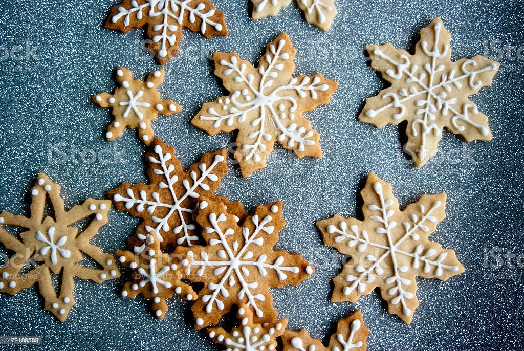 Snowflake Cookies stock photo