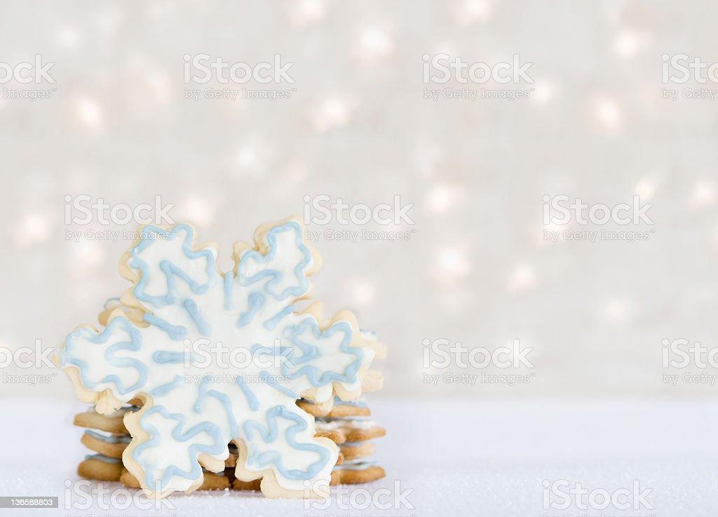 snowflake cookies - winter treat royalty-free stock photo