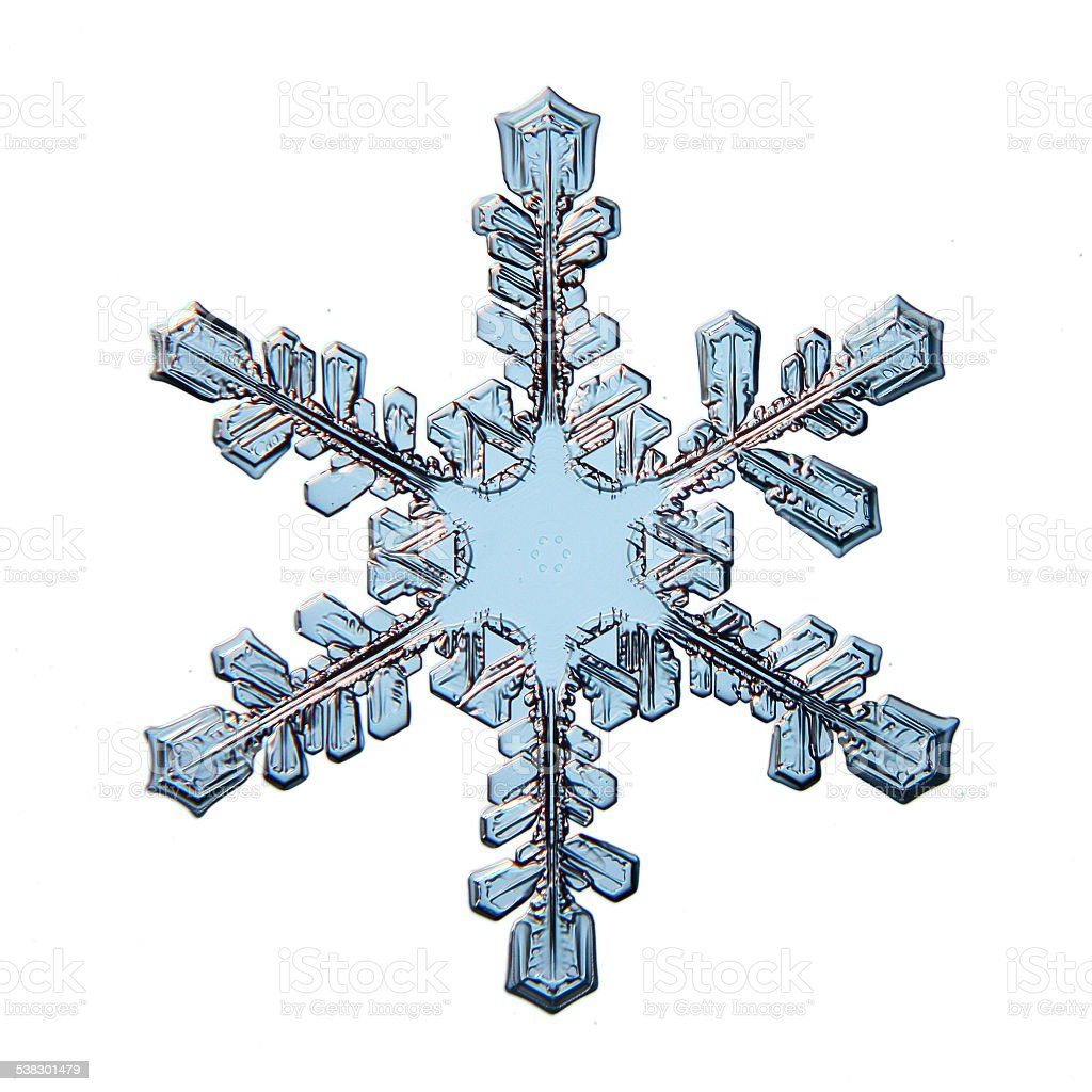 snowflake crystal natural stock photo