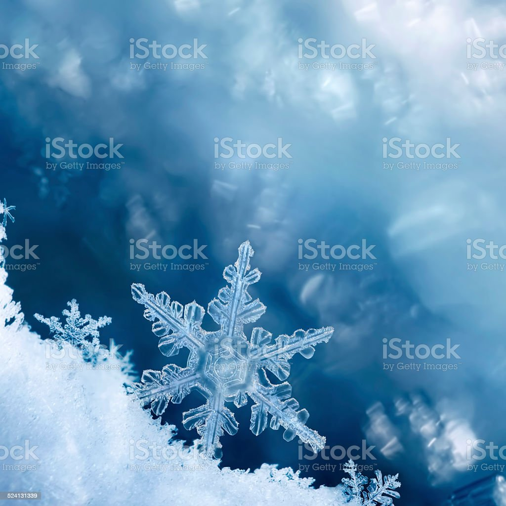 Snowflake Edge stock photo