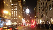 UNICEF Snowflake Hanging Above 5th Avenue in Manhattan.
