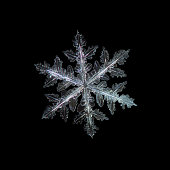 Snowflake isolated on black background