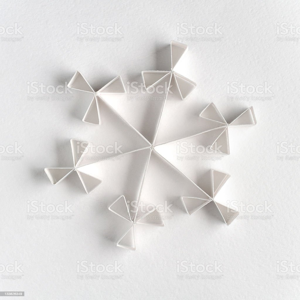 Snowflake made of paper royalty-free stock photo