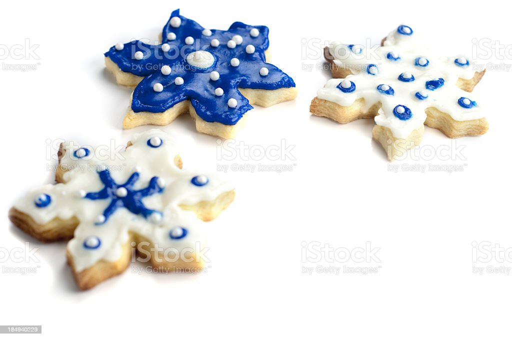 Snowflake Sugar Cookies royalty-free stock photo