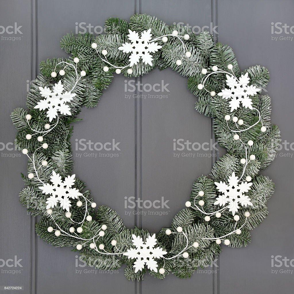 Snowflake Wreath Decoration stock photo