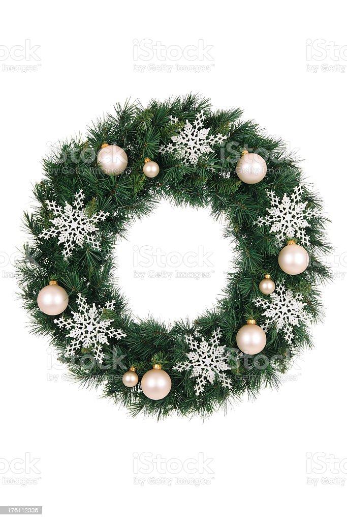 Snowflake Wreath royalty-free stock photo