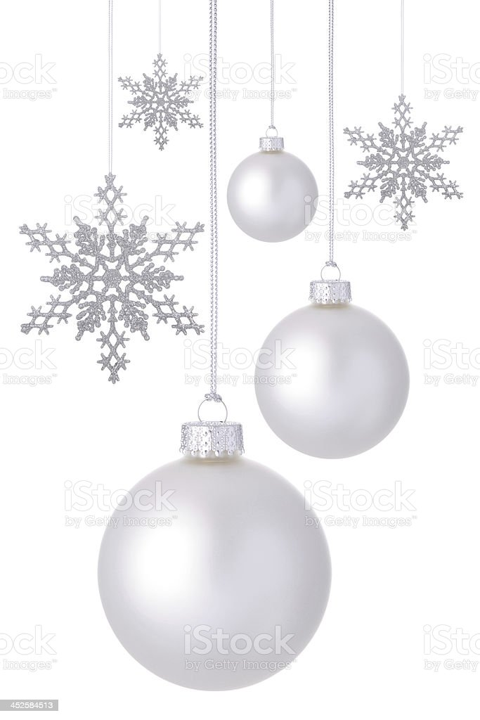 Snowflakes And Baubles stock photo