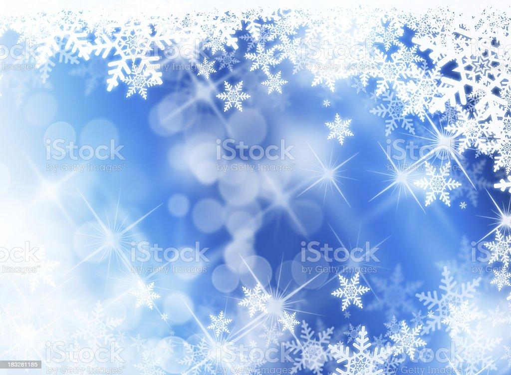 snowflakes and sparkles royalty-free stock photo