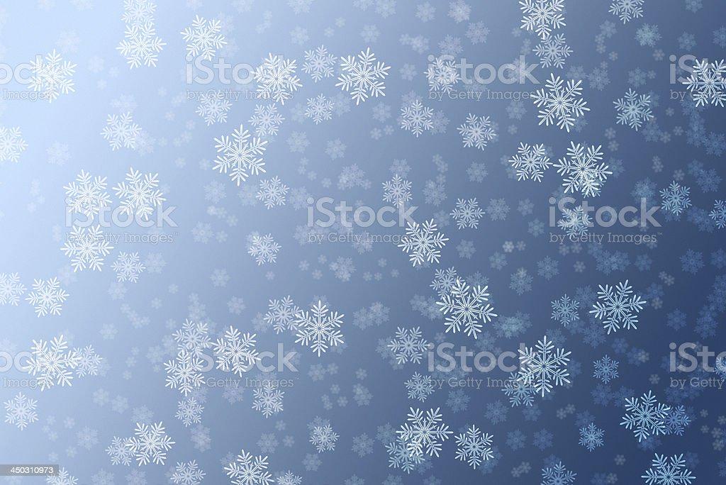 Snowflakes background royalty-free stock photo
