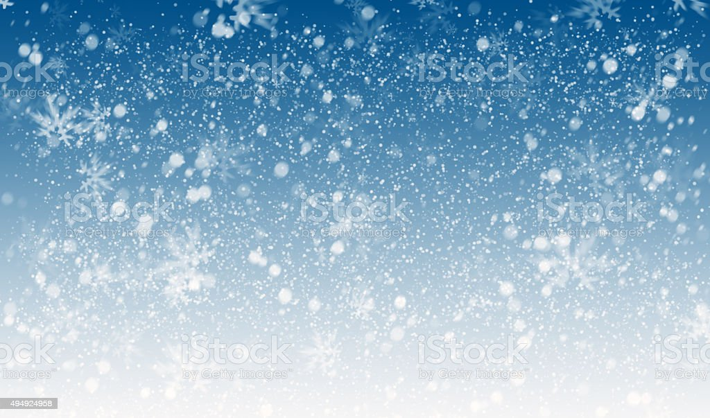 snowflakes background stock photo