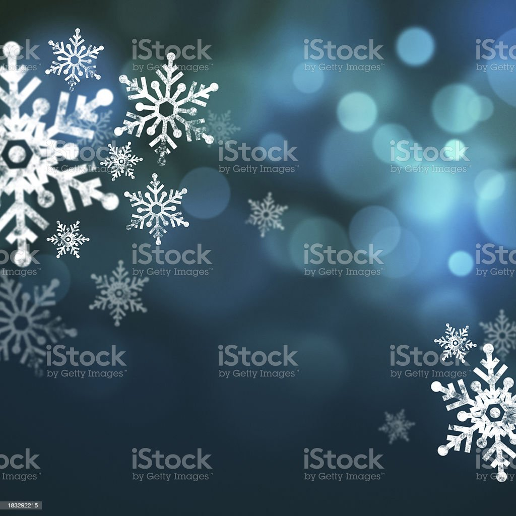 Snowflakes Blue Glitter royalty-free stock photo