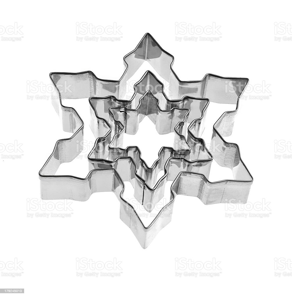 Snowflakes cutters royalty-free stock photo
