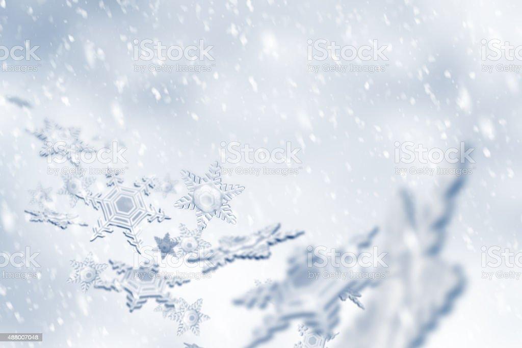 Snowflakes Falling stock photo