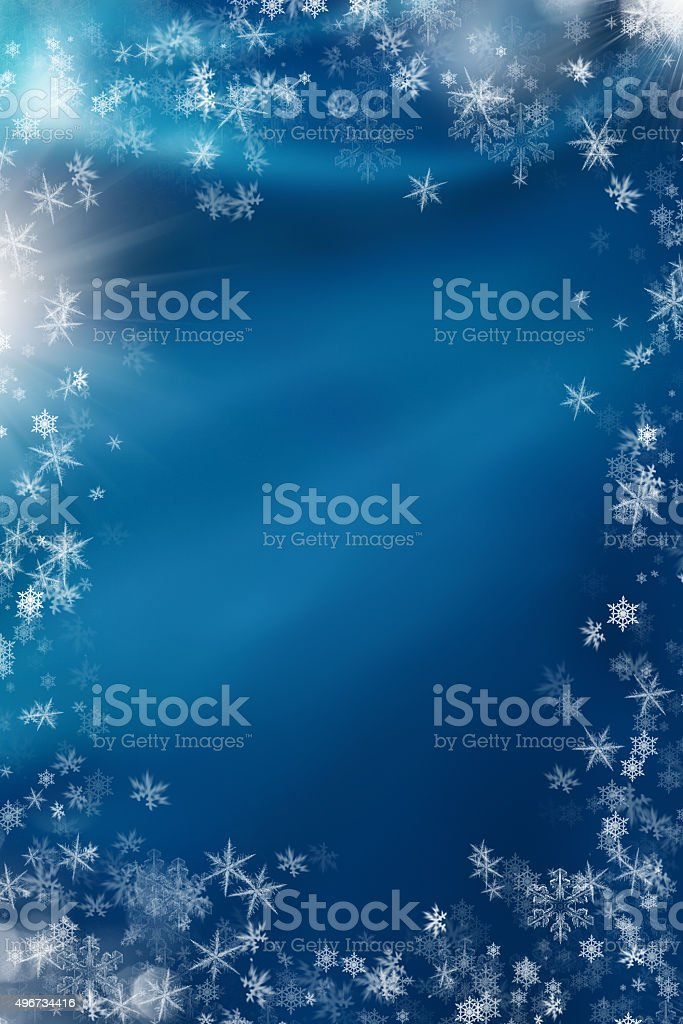 snowflakes for christmas stock photo