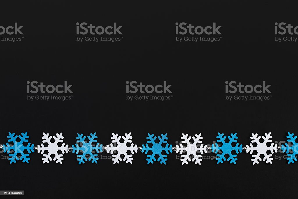 snowflakes garland stock photo