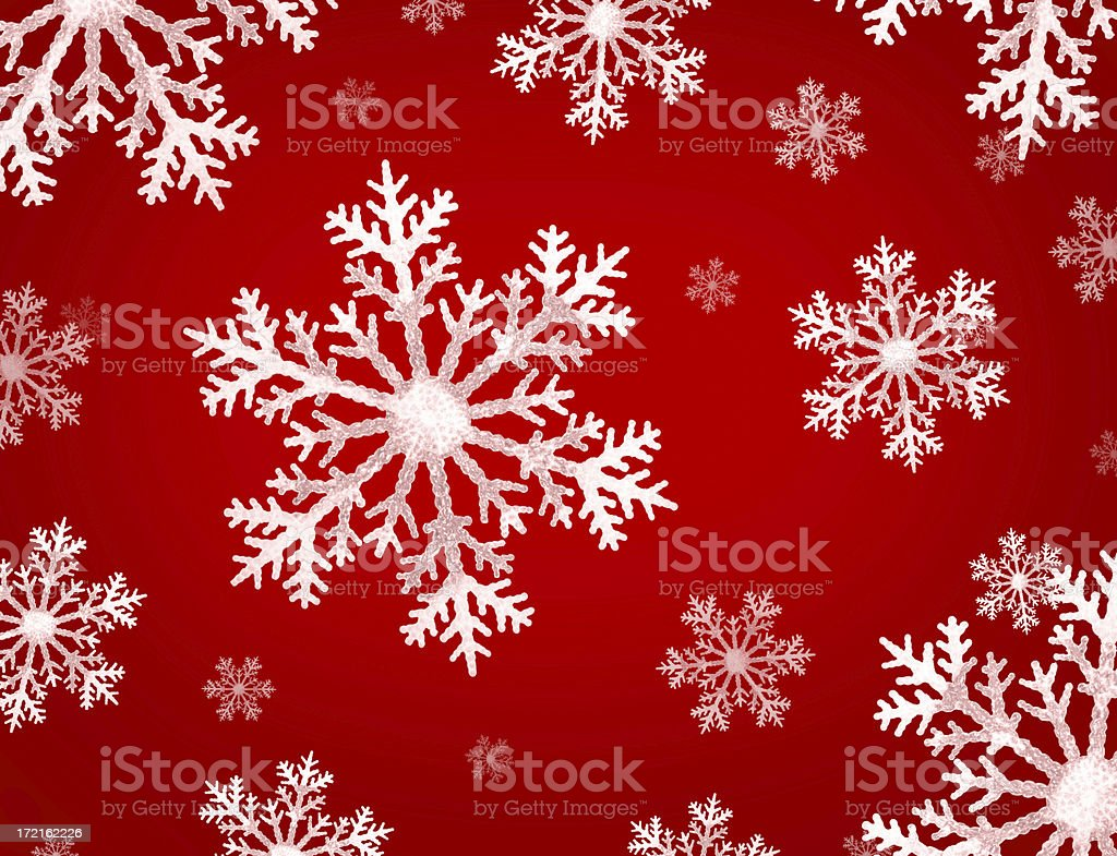 Snowflakes on Winter Red royalty-free stock photo