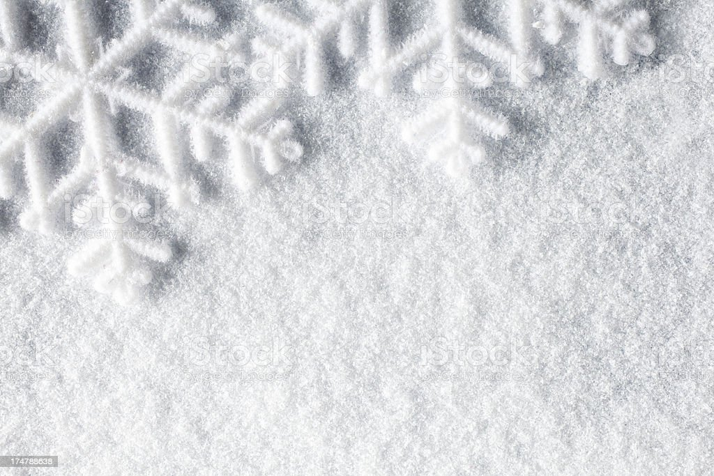 Snowflakes - Snow Macro Winter Christmas Background stock photo
